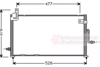 Радіатор кондиціонера VAN WEZEL 81005044.