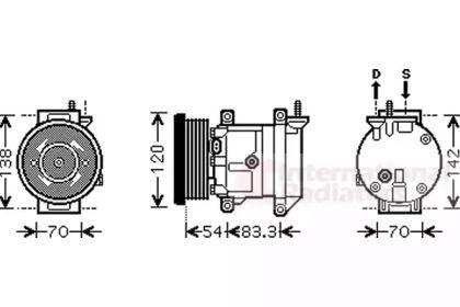 Компрессор кондиционера VAN WEZEL 8100K071.