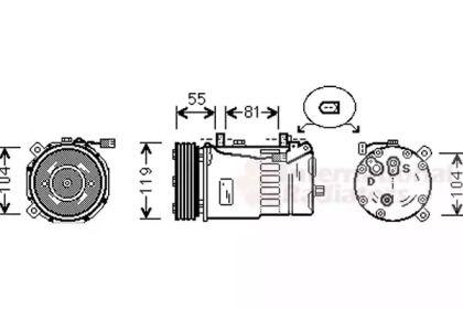 Компресор кондиціонера 'VAN WEZEL 1800K321'.