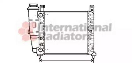 Радіатор охолодження двигуна VAN WEZEL 17002076.