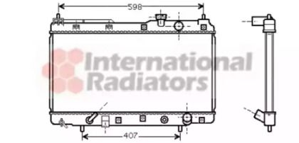 Радиатор охлаждения двигателя на Хонда ЦРВ 'VAN WEZEL 25002104'.