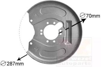 Захисний кожух гальмівного диска на Мітсубісі Карізма VAN WEZEL 3225373.