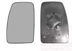 Левое стекло зеркала заднего вида 'VAN WEZEL 3799835'.