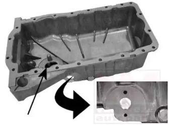 Масляный поддон двигателя на SEAT LEON 'VAN WEZEL 5888073'.