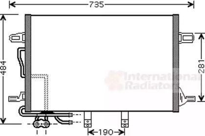 Радіатор кондиціонера на Мерседес W211 VAN WEZEL 30005307.