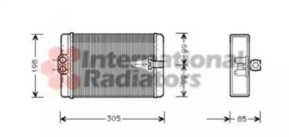 Радіатор печі на Mercedes-Benz W210 VAN WEZEL 30006250.