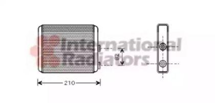 Радиатор печки 'VAN WEZEL 37006353'.