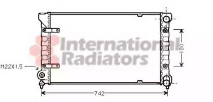Радиатор охлаждения двигателя на Сеат Толедо 'VAN WEZEL 49002009'.