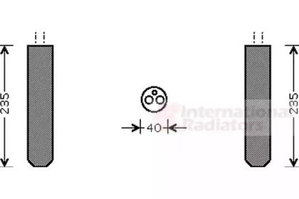 Осушувач, кондиціонер на Мазда МХ5 VAN WEZEL 5300D017.