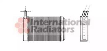 Радиатор печки на VOLKSWAGEN GOLF 'VAN WEZEL 58006061'.