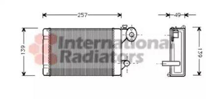 Радиатор печки на Фольксваген Поло 'VAN WEZEL 58006062'.