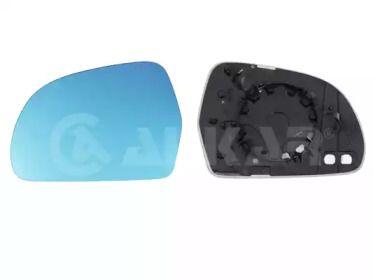 Левое стекло зеркала заднего вида на SKODA OCTAVIA A5 'ALKAR 6431577'.