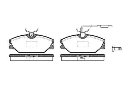 Передняя тормозные колодки 'WOKING P3083.12'.