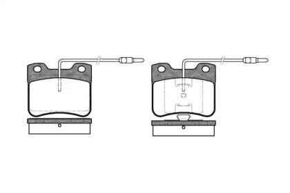 Передние тормозные колодки 'WOKING P3473.04'.