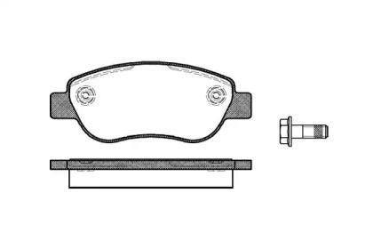 Передние тормозные колодки 'WOKING P11693.00'.