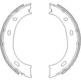 Гальмівні колодки ручника на Мерседес Г Клас  WOKING Z4710.01.