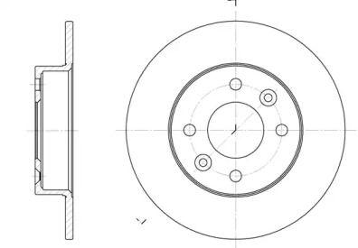 Передний тормозной диск на Рено 5 'WOKING D6066.00'.