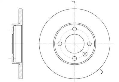 Передний тормозной диск на AUDI 80 'WOKING D6088.01'.