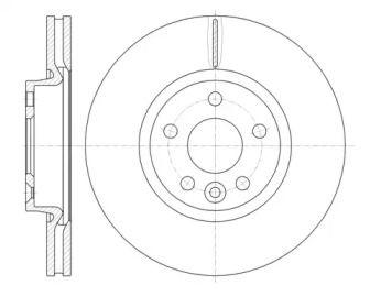 Вентилируемый передний тормозной диск на Дискавери Спорт 'WOKING D61019.10'.
