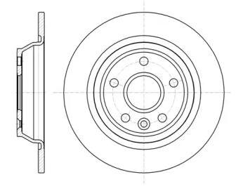 Задний тормозной диск на VOLVO S60 'WOKING D61167.00'.