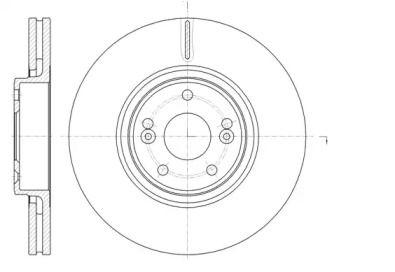 Вентилируемый передний тормозной диск 'WOKING D61171.10'.