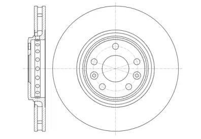 Вентилируемый передний тормозной диск на Рено Талисман 'WOKING D61345.10'.