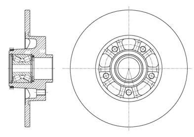 Задний тормозной диск на FIAT TALENTO 'WOKING D61626.20'.