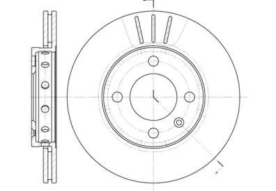Вентилируемый передний тормозной диск 'WOKING D6426.10'.