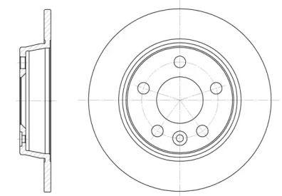 Задний тормозной диск на Сеат Альхамбра 'WOKING D6453.00'.