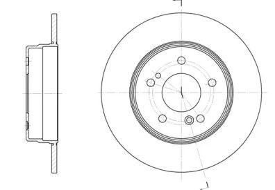Задний тормозной диск на Мерседес С класс 'WOKING D6467.00'.