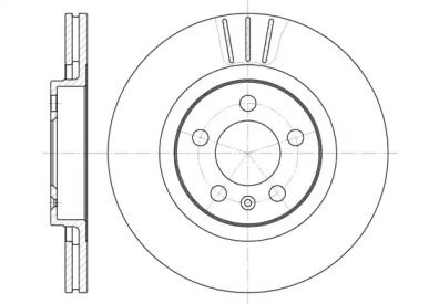 Вентилируемый передний тормозной диск 'WOKING D6546.10'.
