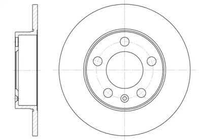 Передний тормозной диск на SEAT LEON 'WOKING D6547.00'.