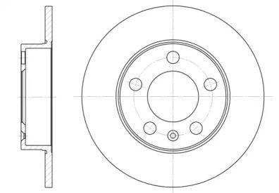 Передний тормозной диск на Фольксваген Дерби 'WOKING D6547.00'.