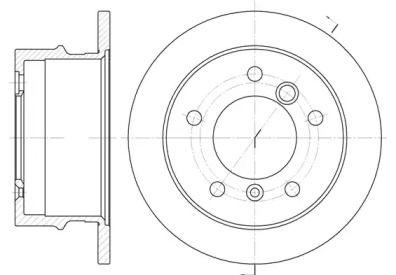 Задний тормозной диск на Мерседес Г класс 'WOKING D6565.00'.