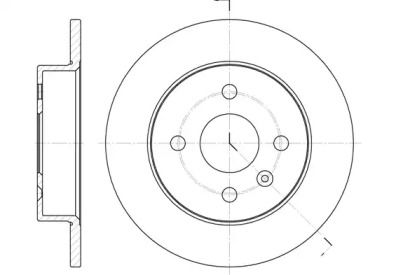 Задний тормозной диск 'WOKING D6570.00'.
