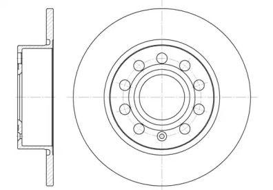 Задний тормозной диск 'WOKING D6649.00'.