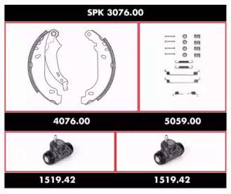 Комплект гальм, барабанний гальмівний механізм WOKING SPK 3076.00 малюнок 0