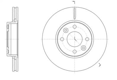 Вентилируемый передний тормозной диск на Рено Зое 'WOKING D61474.10'.