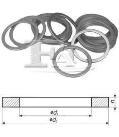 Уплотнительное кольцо 'FA1 232.150.100'.