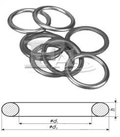 Уплотнительное кольцо, резьбовая пробка маслосливн. отверст. 'FA1 253.550.100'.
