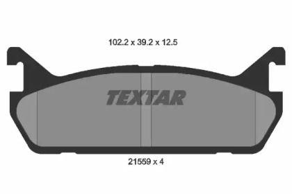 Гальмівні колодки на MAZDA MX-5 'TEXTAR 2155901'.