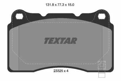 Гальмівні колодки TEXTAR 2332501.
