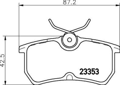 Гальмівні колодки TEXTAR 2335301.