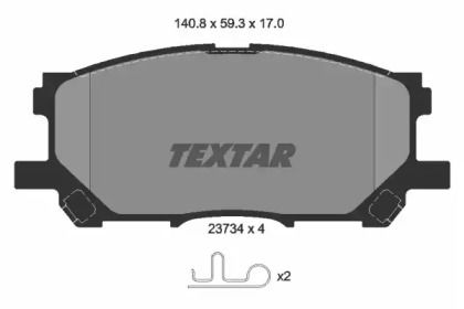 Гальмівні колодки 'TEXTAR 2373401'.