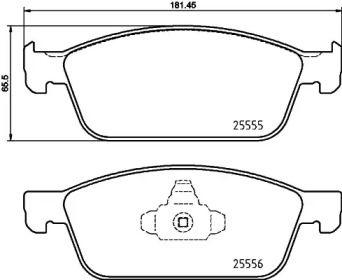 Гальмівні колодки TEXTAR 2555501.