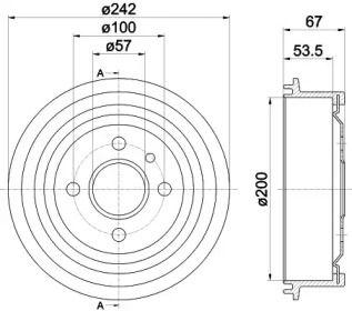 Тормозной барабан 'TEXTAR 94008600'.