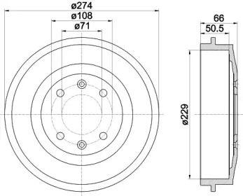 Тормозной барабан на Ситроен С15 'TEXTAR 94010300'.