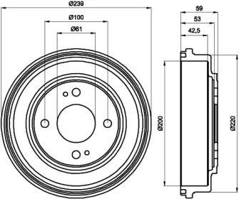 Тормозной барабан 'TEXTAR 94015300'.