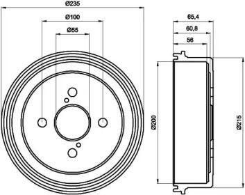 Тормозной барабан 'TEXTAR 94021200'.