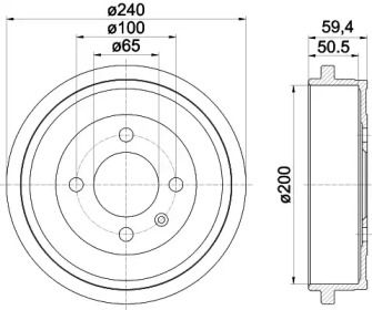 Тормозной барабан на Сеат Мии 'TEXTAR 94022800'.